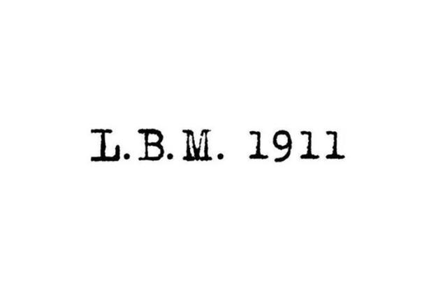 LBM 1911 varumörkes bild